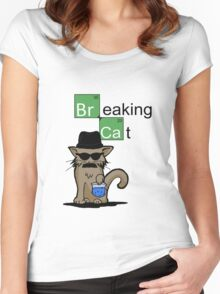 Breaking Cat  Women's Fitted Scoop T-Shirt
