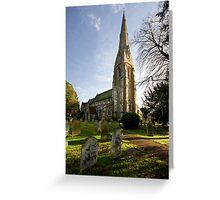St. James's Church, Weybridge Greeting Card