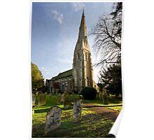St. James's Church, Weybridge Poster