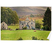 Scottish Pastorale (On the A9, Pitlochry, Perthshire, Scotland, UK.) Poster