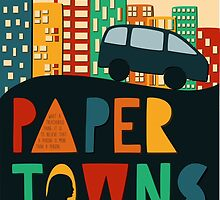 Paper Towns by John Green Book Cover by DesignsByAND