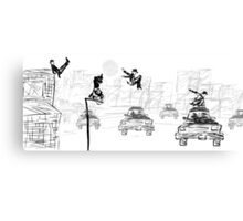 Pedestrian Parkour Canvas Print