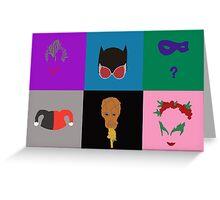Villains of Gotham Greeting Card