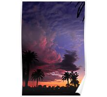 Clouds at dusk Poster