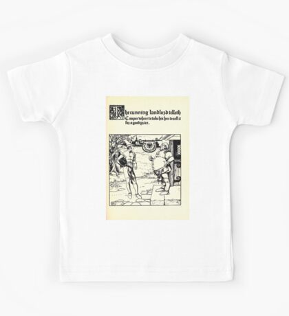 The Wonder Clock Howard Pyle 1915 0243 The Cunning Landlord Telleth Casper Where To Take His Hen to Sell For Good Price Kids Tee