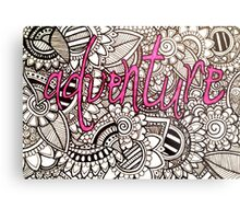 Adventure Zentangle Metal Print