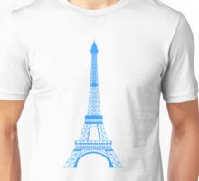 Teal Blue Eiffel Tower Unisex T-Shirt