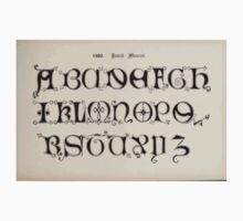 The Signist's Book of Modern Alphabets Freeman F Delamotte 1906 0153 1480 British Museum One Piece - Long Sleeve