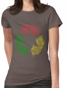 Peace, Love and Happiness Womens Fitted T-Shirt