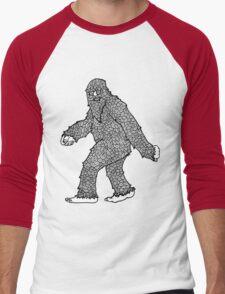 Psychedelic Sasquatch  Men's Baseball ¾ T-Shirt