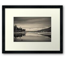 The Point at the Everglades Framed Print