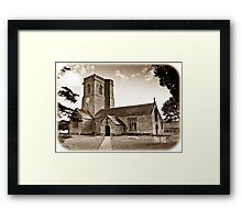 Church of St. Mary the Virgin - Antiqued print Framed Print