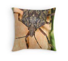 Bark Stink Bug Throw Pillow