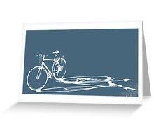 bike in shadow Greeting Card