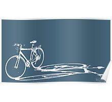 bike in shadow Poster