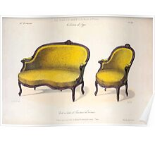 Le Garde Meuble Desire Guilmard 1839 0263 High Style Seat Furniture Interior Design Poster