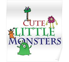Cute Little Monsters Poster