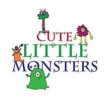 Cute Little Monsters Photographic Print