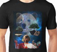 Hippy Jesus Space Christmas Unisex T-Shirt