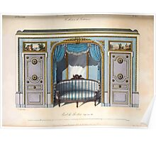 Le Garde Meuble Desire Guilmard 1839 0169 High Style Bed and Window Hanging Interior Design Poster