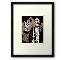 American Gothic Zombie Framed Print