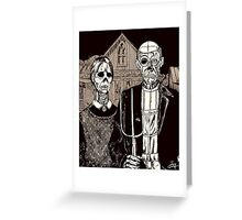 American Gothic Zombie Greeting Card