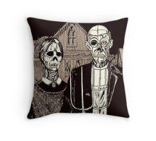American Gothic Zombie Throw Pillow
