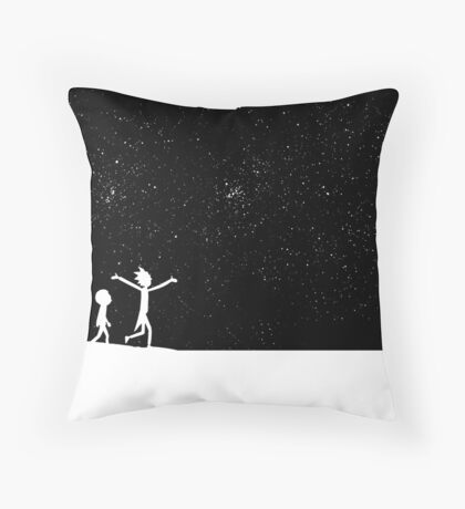 Rick and Morty - Star Viewing Throw Pillow