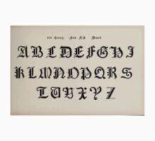 The Signist's Book of Modern Alphabets Freeman F Delamotte 1906 0147 Fourteenth 14th Century Munich One Piece - Short Sleeve