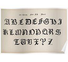The Signist's Book of Modern Alphabets Freeman F Delamotte 1906 0147 Fourteenth 14th Century Munich Poster