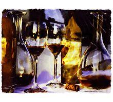 Red Wine Still Life by e-nigma-edition