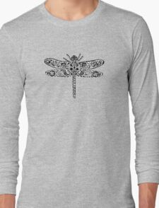 Dragonfly Doodle Long Sleeve T-Shirt