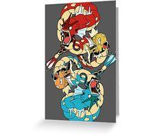 Magikarp & Gyarados Greeting Card