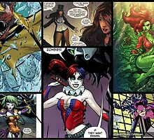batman female comic strip by wolfrockstar77