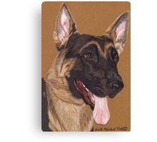 German Shepherd Vignette Canvas Print