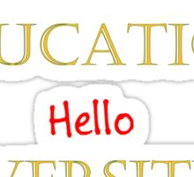 First Rate Education - Lincoln University Sticker