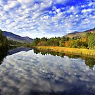 AUTUMN REFLECTIONS ON THE AUSABLE by MIKESANDY