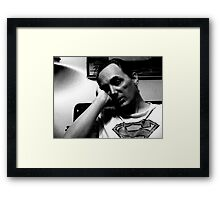 Sleepy Superman Framed Print