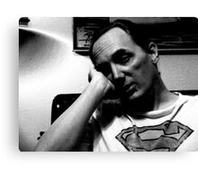 Sleepy Superman Canvas Print