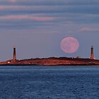 November Moonrise over Thacher Island by Kamalyn