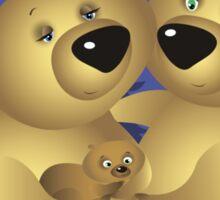 A bear family Sticker