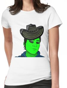 Mexican Alien Sombrero Womens Fitted T-Shirt