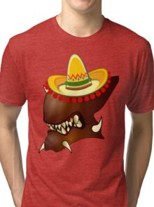 Mexican Alien Sombrero Tri-blend T-Shirt