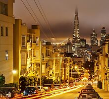 Night View from Knob Hill - San Francisco by Dan Florence