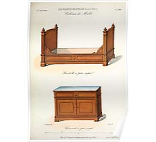 Le Garde Meuble Desire Guilmard 1839 0235 High Style Bed and Window Hanging Interior Design Poster