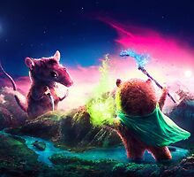 Knife Rat vs Wizard Bear by Ryan Laing