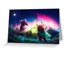 Knife Rat vs Wizard Bear Greeting Card