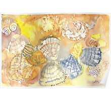 Sally Sells Sea Shells by the Seashore Poster