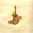 Ukulele and Hawaiian Flowers by chamrleon
