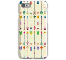 Colorful Tribal Arrows Pattern with Yellow Background iPhone Case/Skin